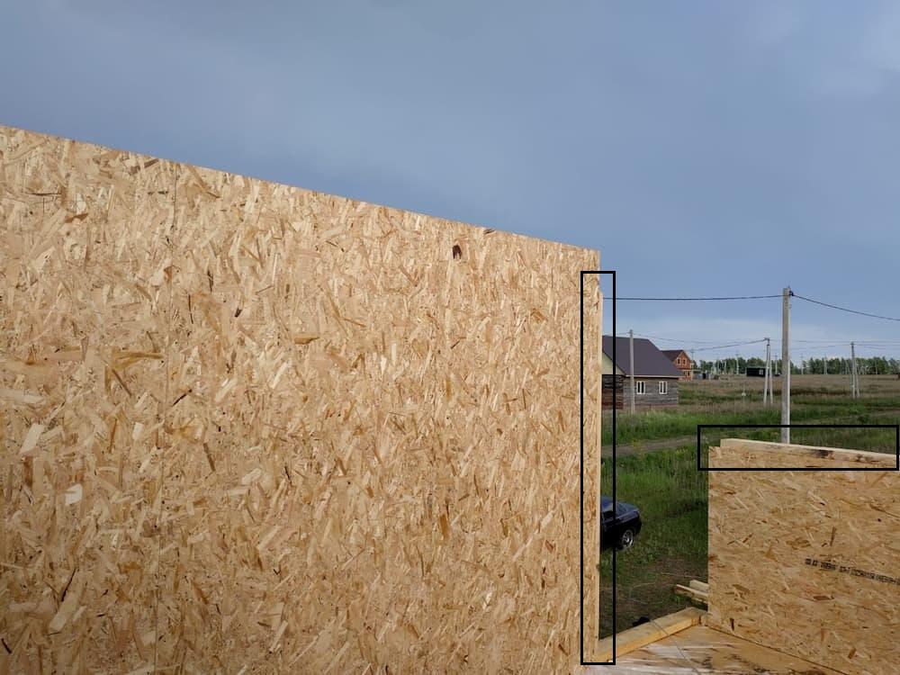 деревянный брус в сип панели