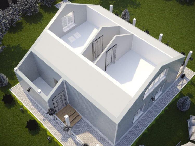 двухэтажный канадский дом