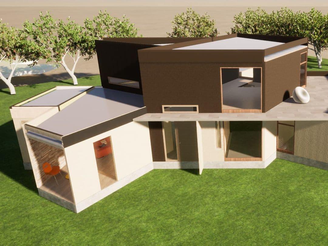 дизайн каркасно-щитового дома